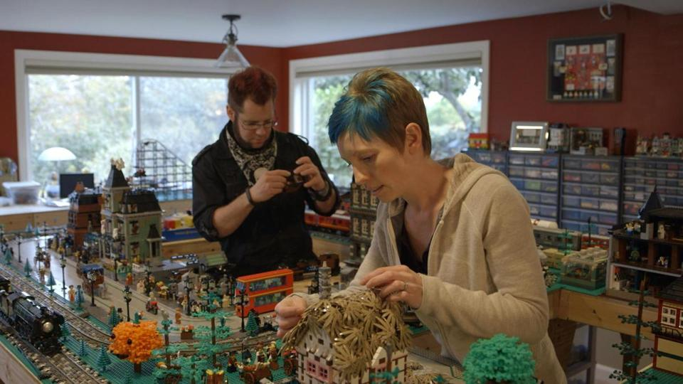"Dave and Stacy Sterling at work in ""A LEGO Brickumentary."""