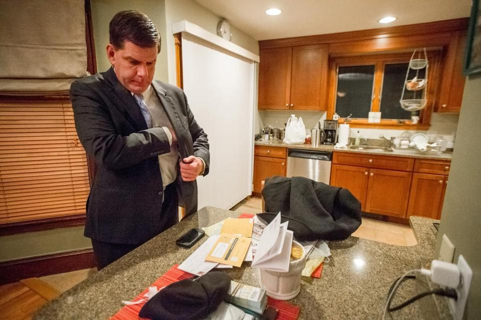 Mayor Marty Walsh in his Savin Hill home in 2013.