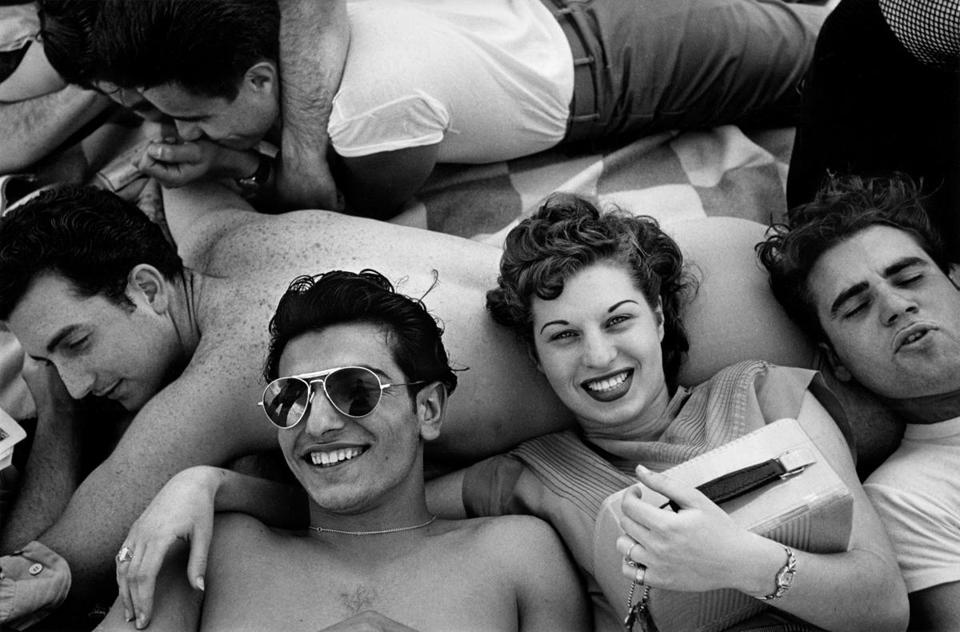 "Harold Feinstein said his ""Coney Island Teenagers"" came about when ""one kid said, 'Hey mister, take my picture.' """