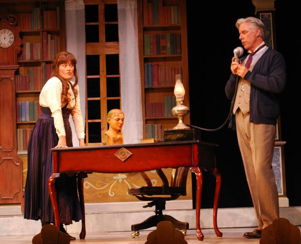 "Ashley Brown as Eliza Doolittle and Jeff McCarthy as Professor Higgins in ""My Fair Lady."""