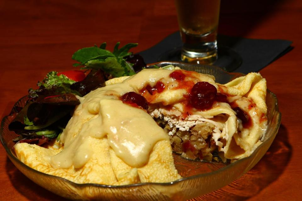 The Norman Rockwell crepe offers up turkey with a twist.