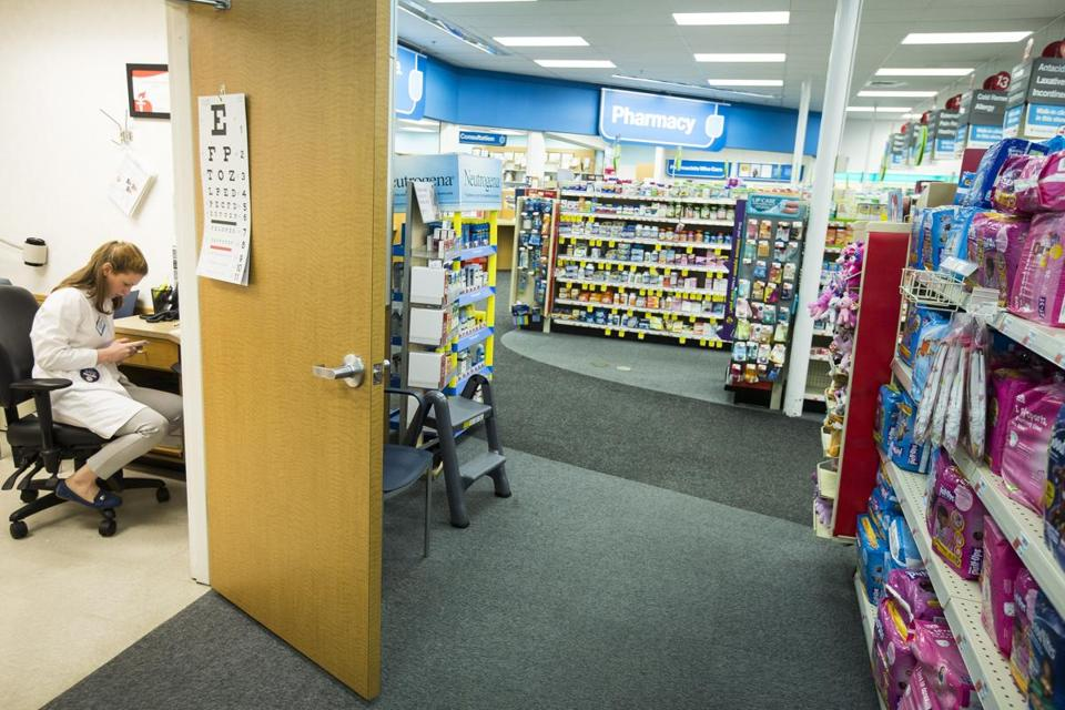 CVS MinuteClinics, like this one in Cambridge, are staffed by nurse practitioners and offer basic medical care to consumers.