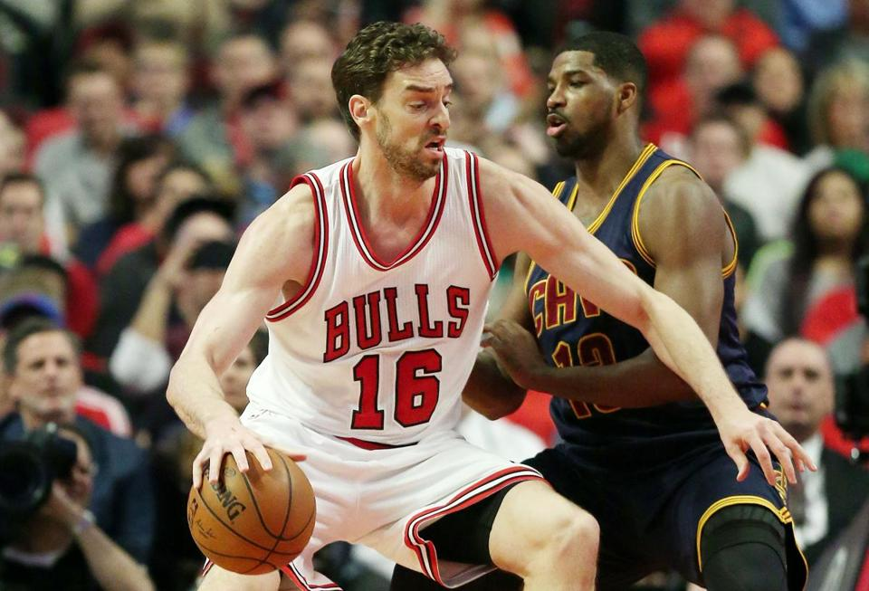 Pau Gasol missed two games in the playoff series against Cleveland.