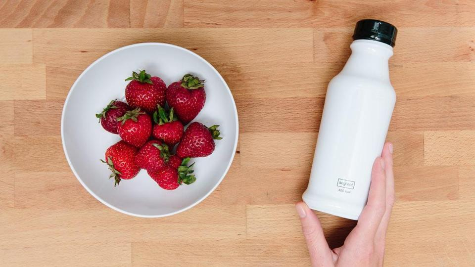 "A bottle of Soylent, Silicon Valley's ""nutritionally complete"" solution to a problem a lot of us never considered: The overwhelming nuisance of eating."