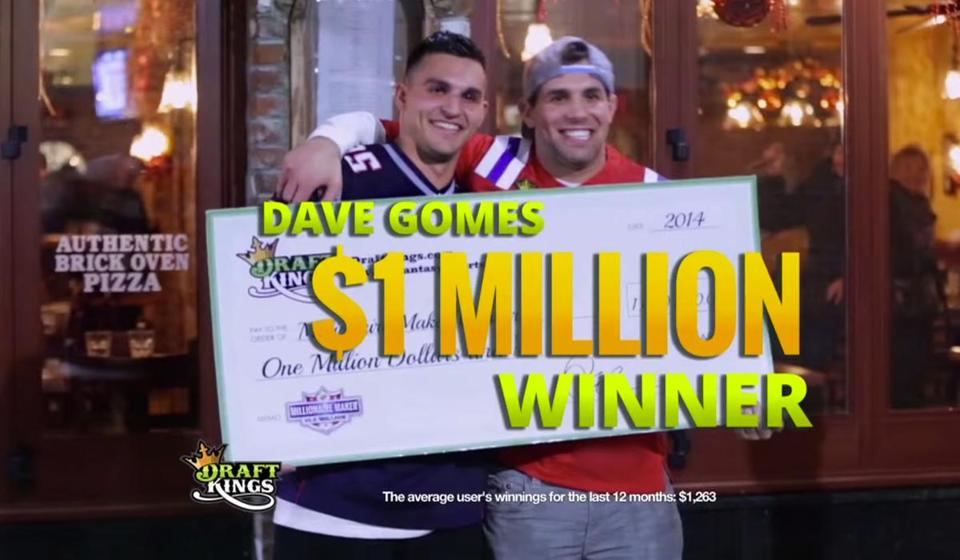 DraftKings has spent about $154.5 million this year on its commercials, which suggest winning can be easy.