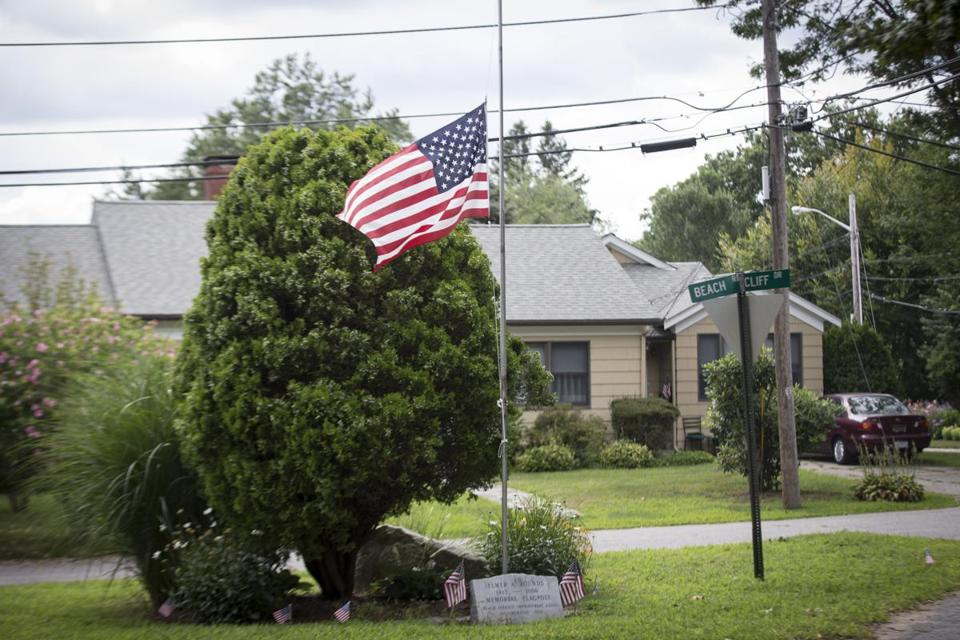 A flag was at half staff near the R.I. home of First Sergeant Andrew McKenna, who was killed in Afghanistan.