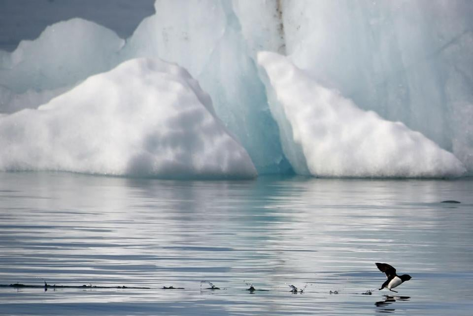 """Shrinking ice caps forced National Geographic to make the biggest change in its atlas since the Soviet Union broke apart,"" President Obama said."