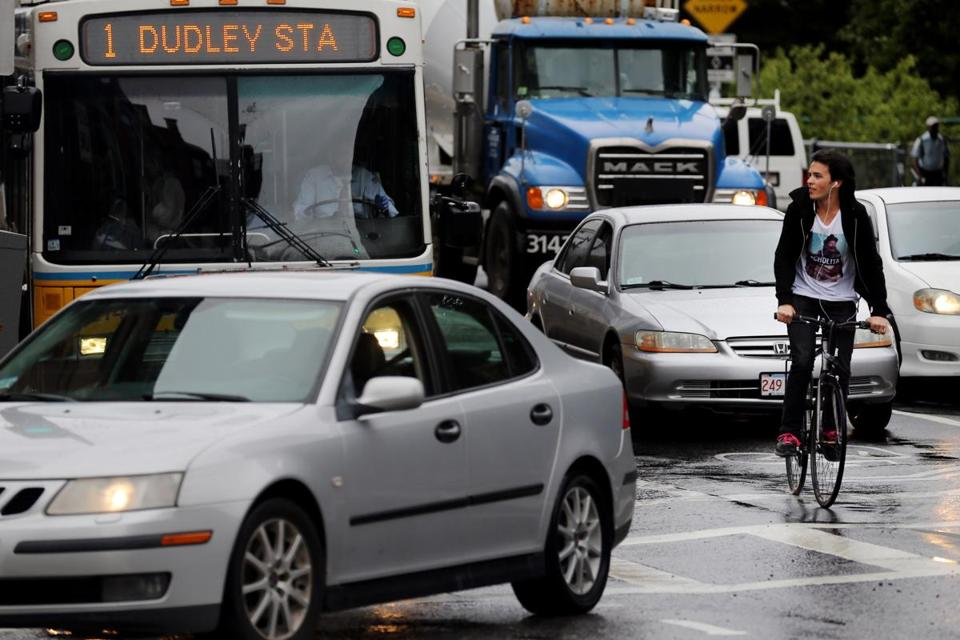The Massachusetts Avenue and Beacon Street intersection might benefit from eliminating a lane, cycling advocates say.