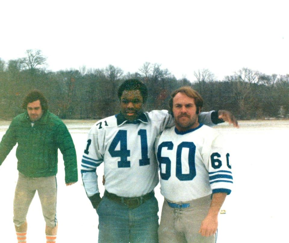 Friends Rich Young and Larry DeVoe back in their playing days.
