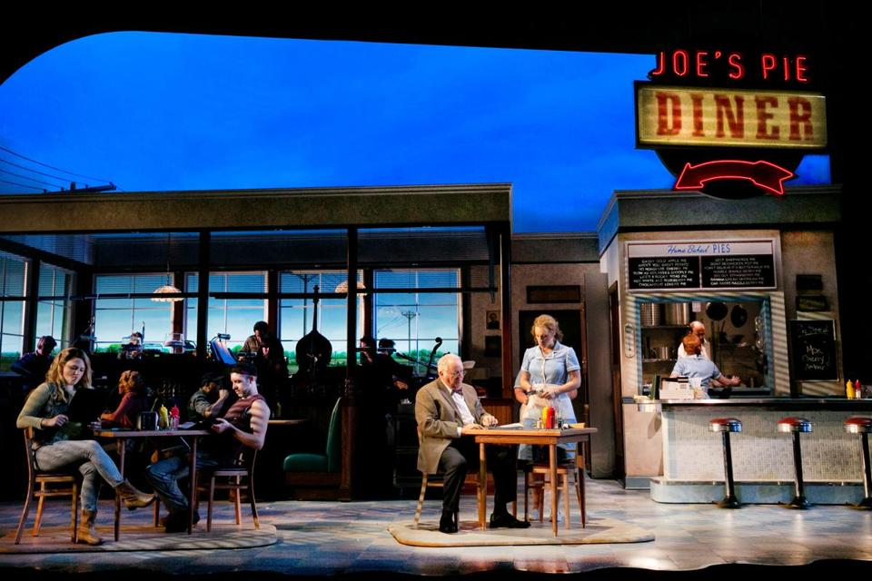"A scene from the American Repertory Theater production of ""Waitress."""