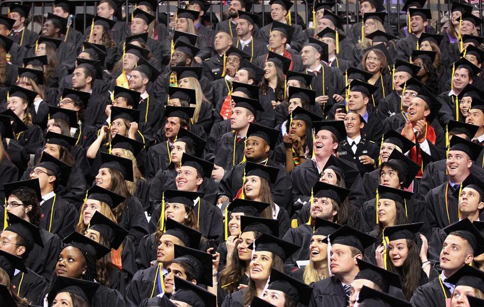 Northeastern University during commencement 2014.