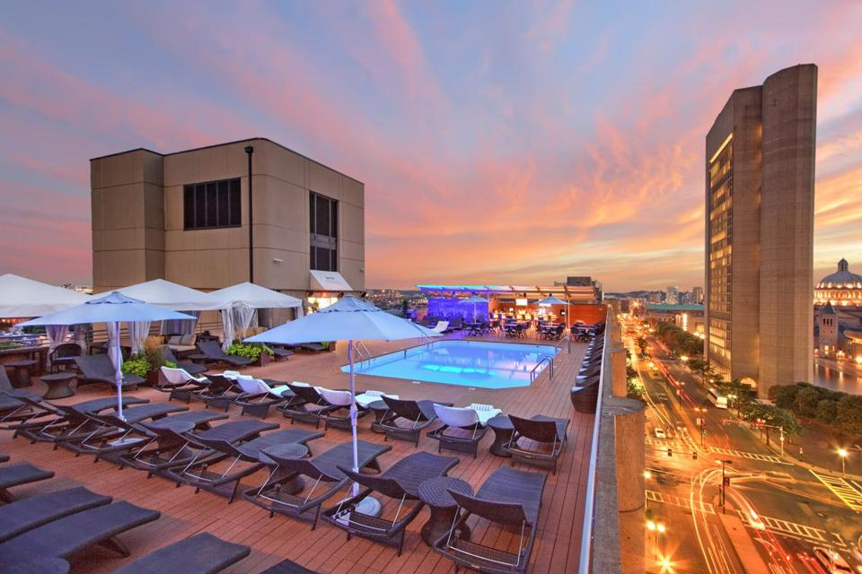 Rooftop Pool At The Colonnade Hotel The Boston Globe