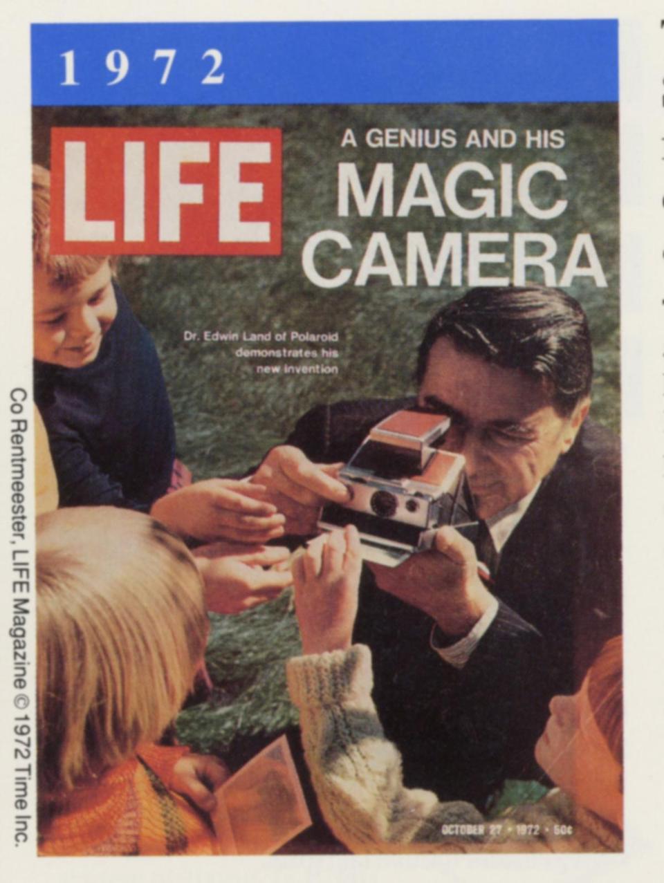 Photos polaroid changed picture taking habits of millions photo color advance life magazine cover 1972 polaroid sx 70 single sciox Choice Image