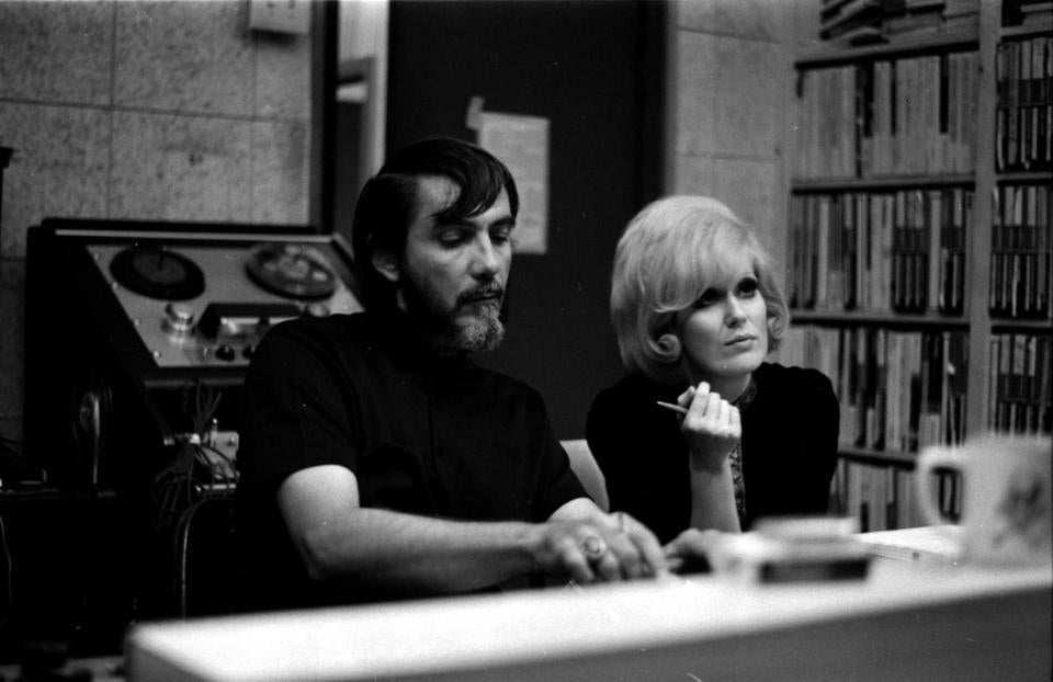 Tom Dowd and Dusty Springfield in studio.