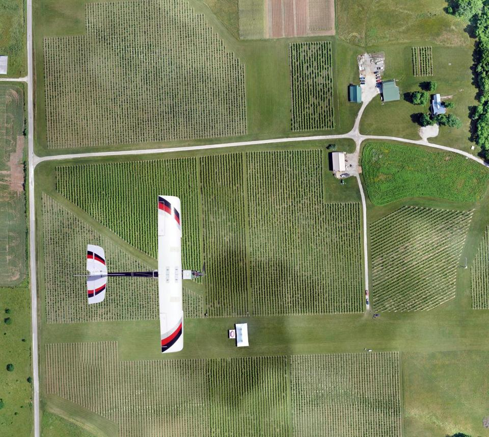 agricultural drones change the way we farm the boston globe the lancaster hawkeye mk iii drone flew over a farm