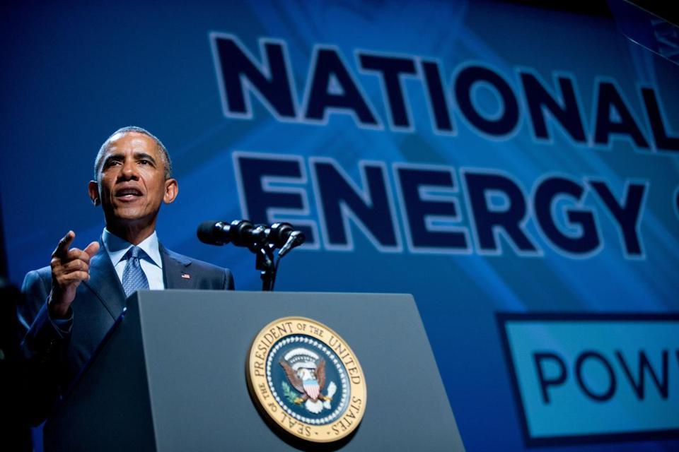 Obama Pushes Green