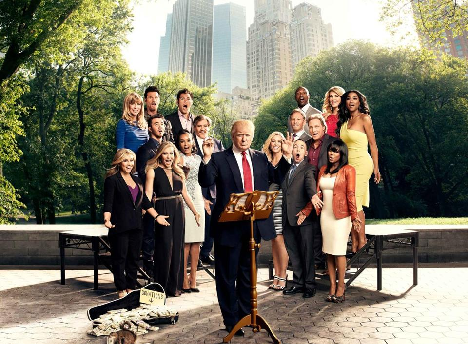 "Donald Trump and the cast of season 14 of ""Celebrity Apprentice."""