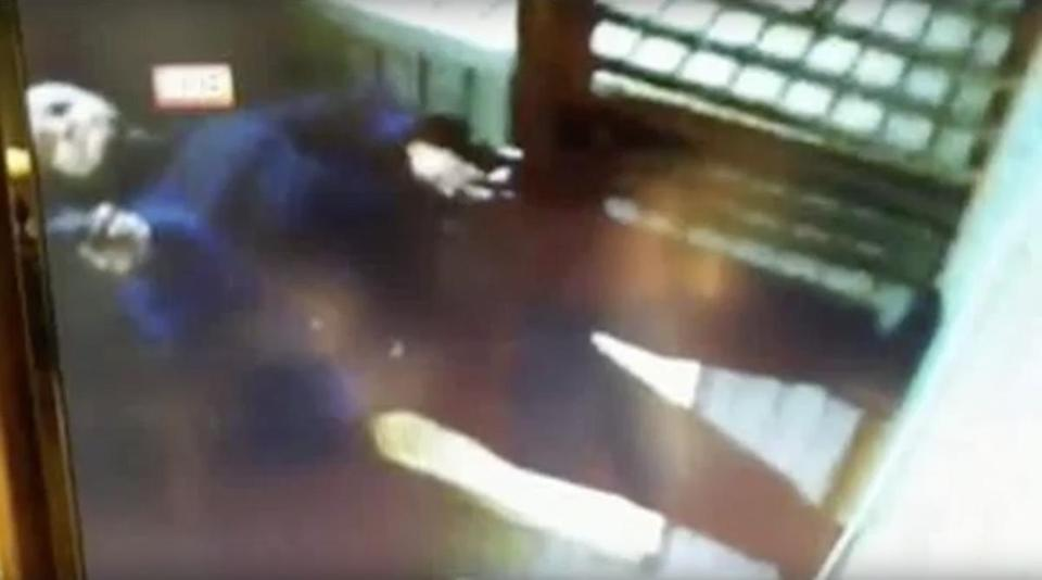 An image from a video shows the suspect in the shooting deaths of two journalists.