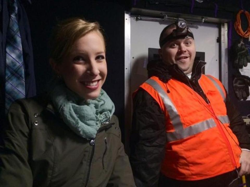 An undated photo made available by WDBJ-TV shows reporter Alison Parker (left) and cameraman Adam Ward.