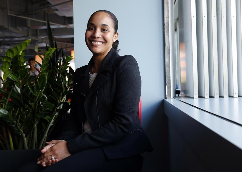 Rochelle Valdez, 27, recently completed a principal-training program at  Boston College and