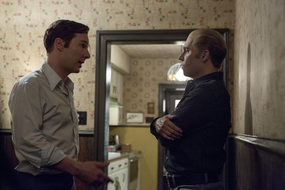 "From left: Benedict Cumberbatch as Billy Bulger and Johnny Depp as James ""Whitey"" Bulger in the drama ""Black Mass."""