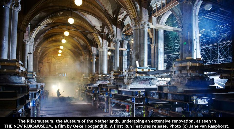 "Renovation work from the documentary ""The New Rijksmuseum."""