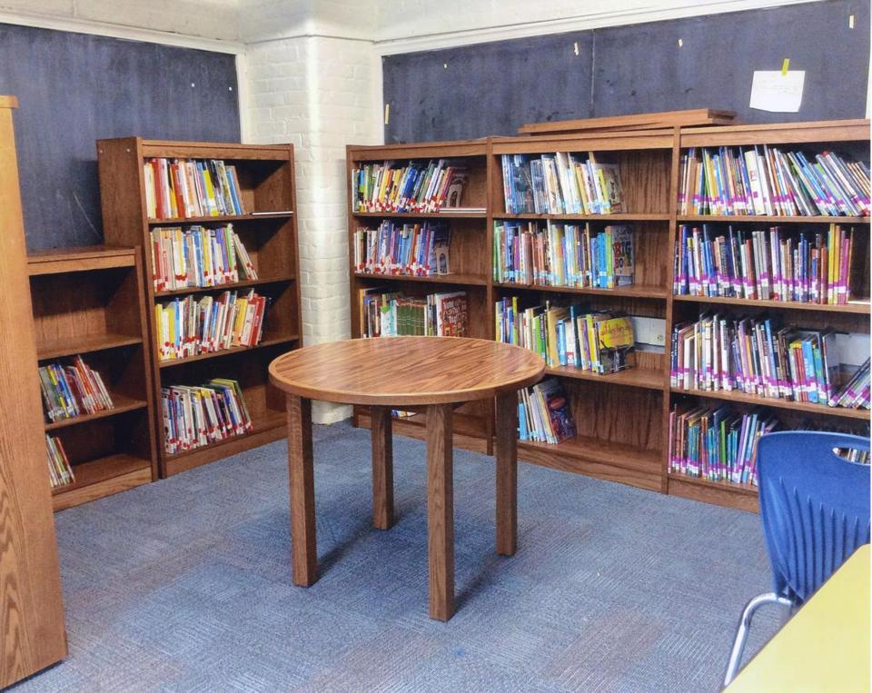 The new library at Sarah Greenwood School in Dorchester in 2015.