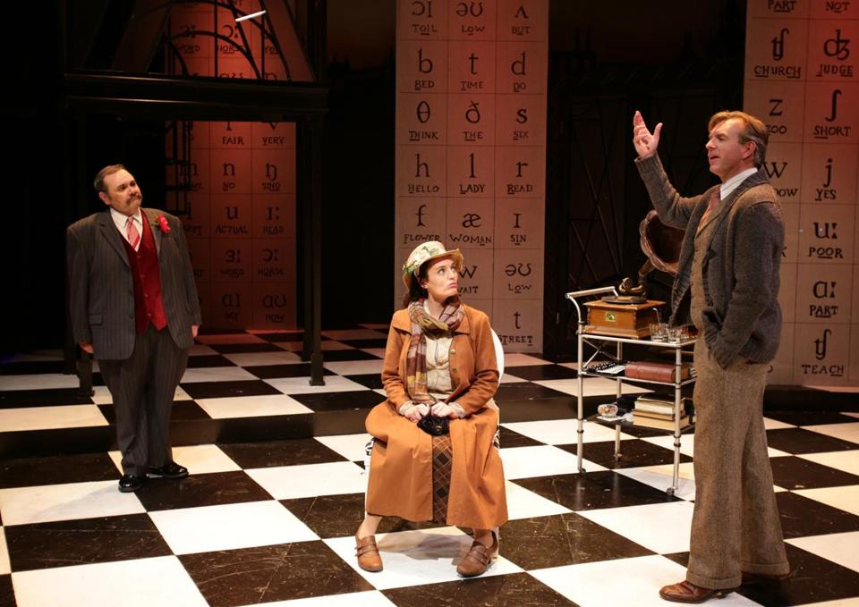 """From left: Remo Airaldi, Jennifer Ellis, and Christopher Chew in """"My Fair Lady."""""""
