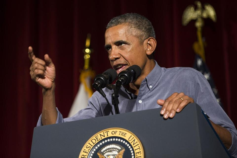 President Obama spoke Monday during the Labor Day breakfast.