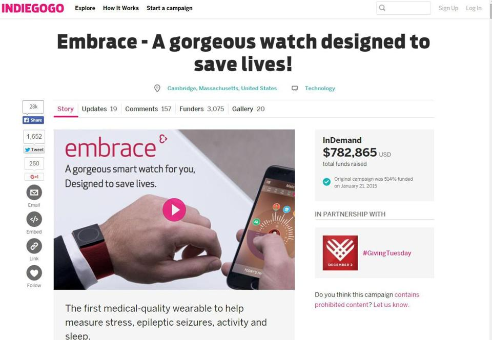 Small companies like Empatica, which has offices in Cambridge, are marketing their medical devices to eager customers on crowdfunding sites long before the FDA has a chance to review the products for safety and efficacy.