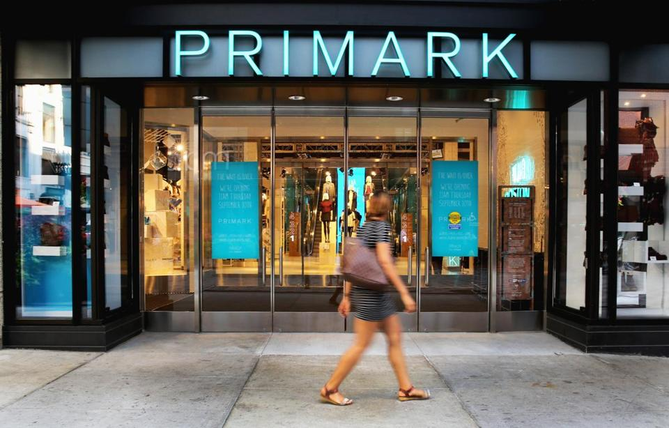 The exterior of Primark's first US location in Downtown Crossing.