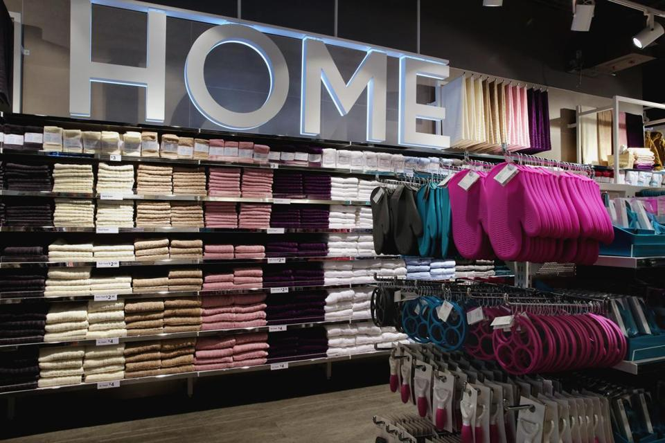The home goods section is on the fourth floor.