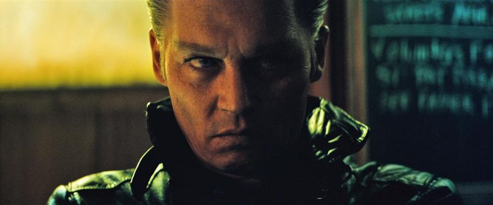 "Johnny Depp in ""Black Mass."""