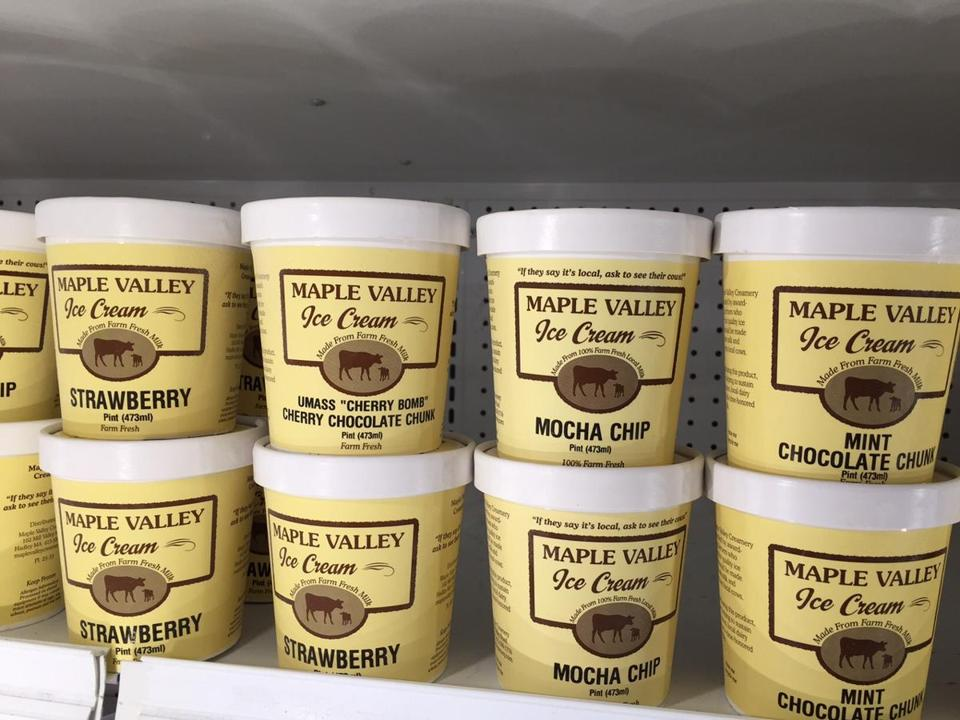 "Maple Valley ice cream flavors include the UMass ""Cherry Bomb.''"