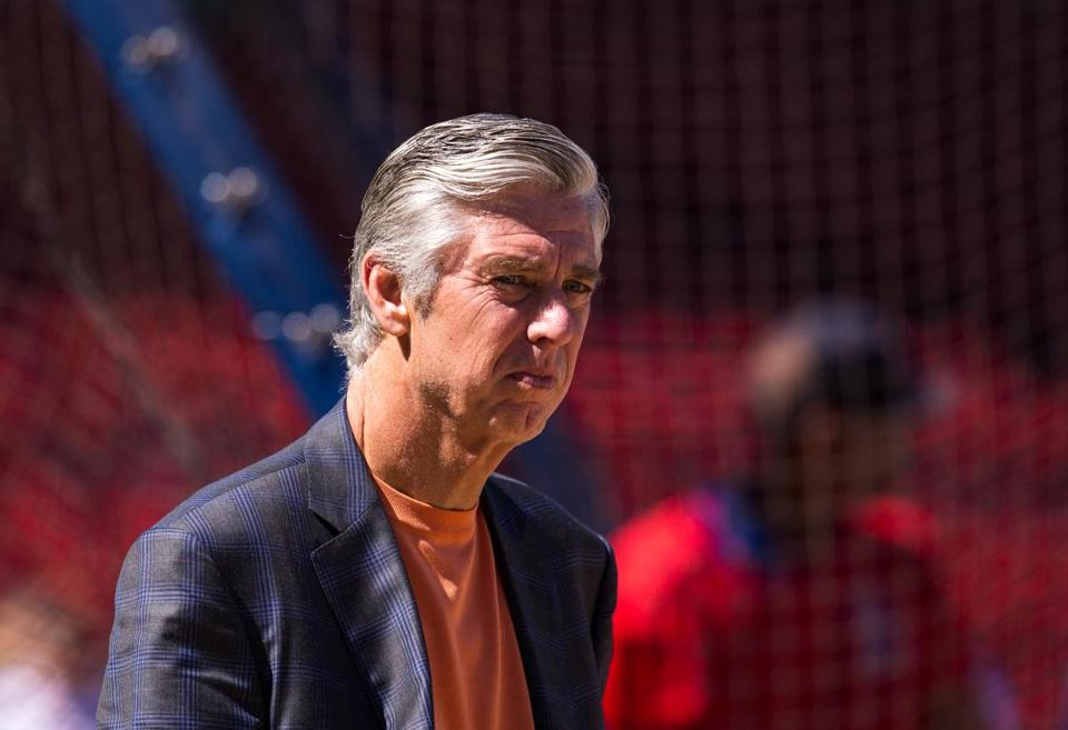 Dave Dombrowski, who made a few moves in the Red Sox baseball ops department Wednesday, has yet to hire a GM.