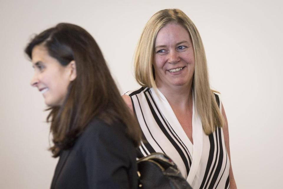 "Aisling Brady McCarthy (right), pictured during a court appearance, ""just doesn't want anyone else to go through what she did,"" her lawyer said."
