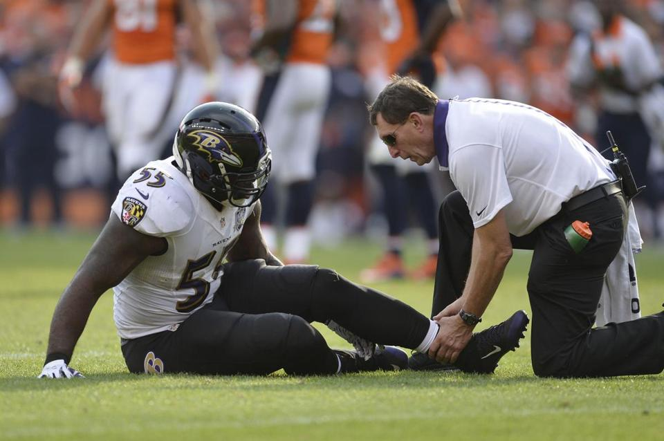 Terrell Suggs, a vocal Patriot critic and a member of the arch rival Ravens, is out for the season with a torn Achilles' tendon. Is it part of a Deflategate curse?