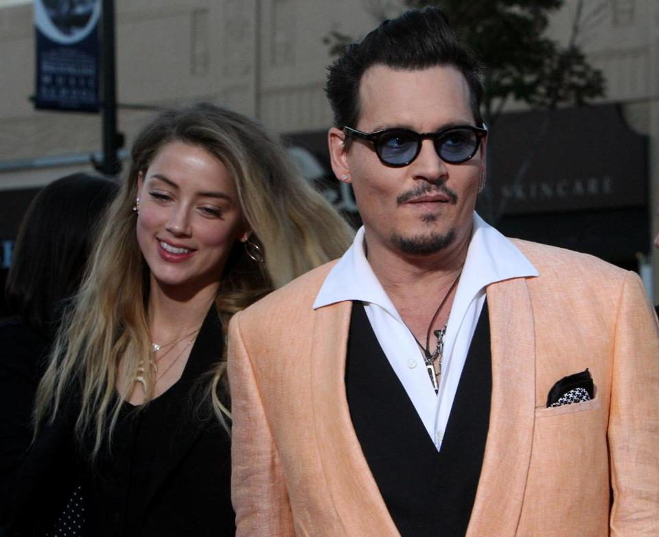 Johnny Depp and his wife, Amber Heard.