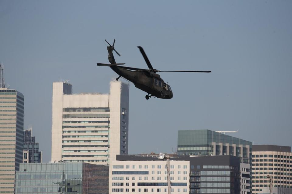 Why Are Helicopters Flying Over Boston Today >> Military Helicopters Over Boston Today Helicopter And Bridge Wallpaper