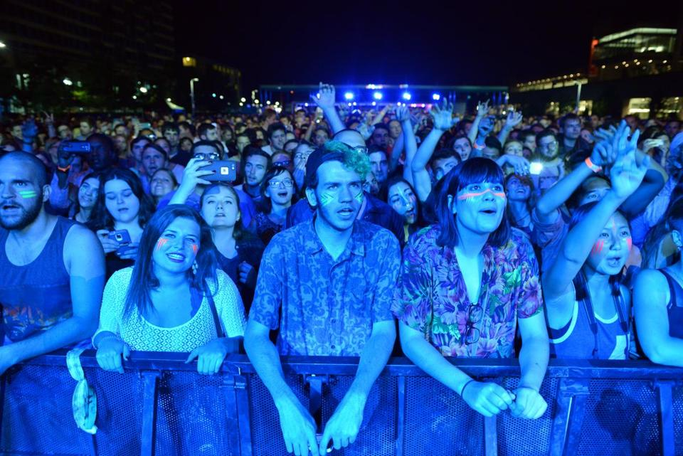 Local fans cheered the band Passion Pit when they played the Lawn on D in September.