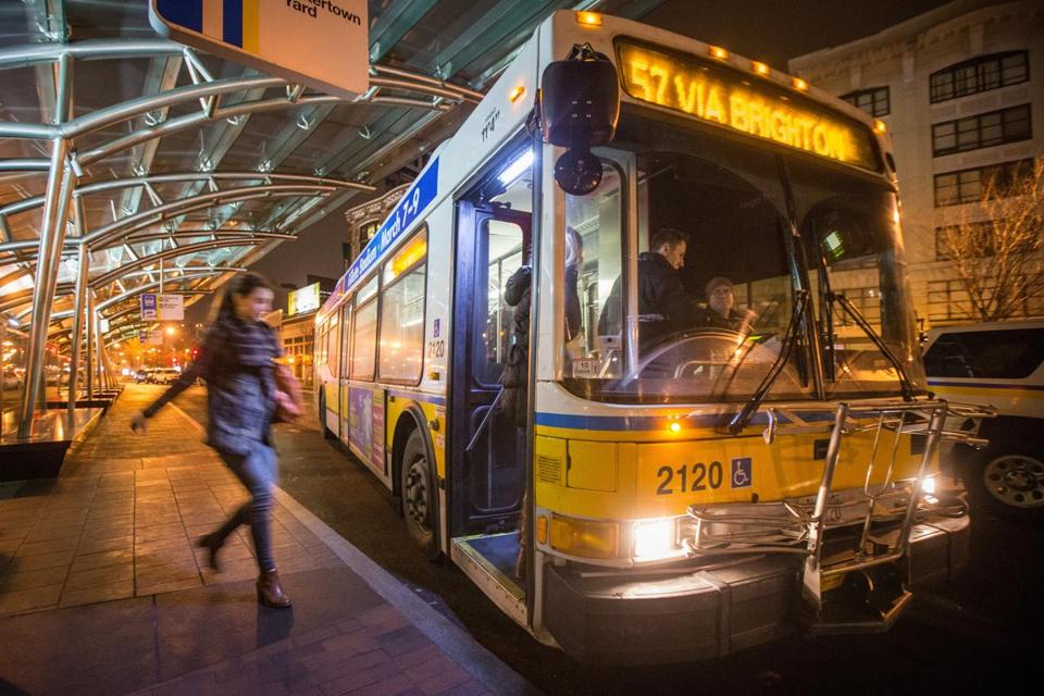 The MBTA is considering a plan to increase to number of buses on some routes to mitigate the loss of late-night service.