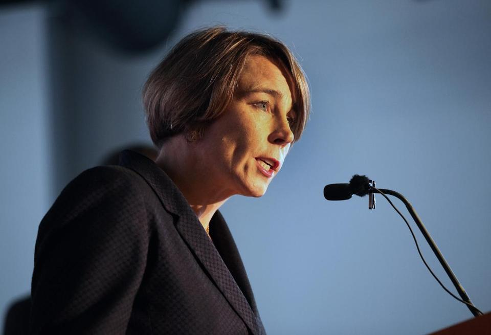 Boston, MA 091715 Attorney General Maura Healey (cq) addressed an AARP event in Boston, Thursday, September 17 2015. (Globe Staff/Wendy Maeda) section: Metro slug: CapitalHealey reporter: Felice Belman