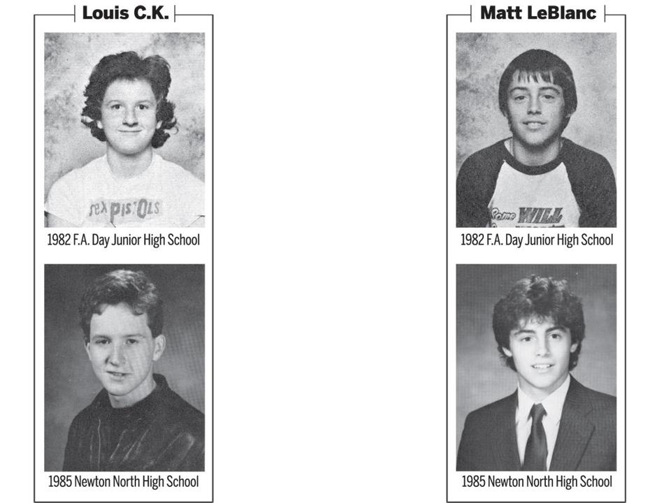Louis C.K. and Matt LeBlanc in their younger days in Newton.