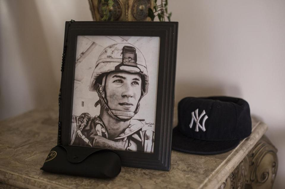 A photo of Lance Corporal Gregory Buckley Jr., who was shot to death after reporting abuse by Afghans.