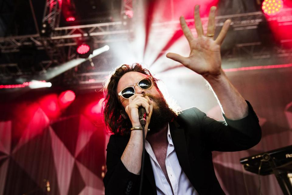 Father John Misty performing at a festival in Denmark in 2015.