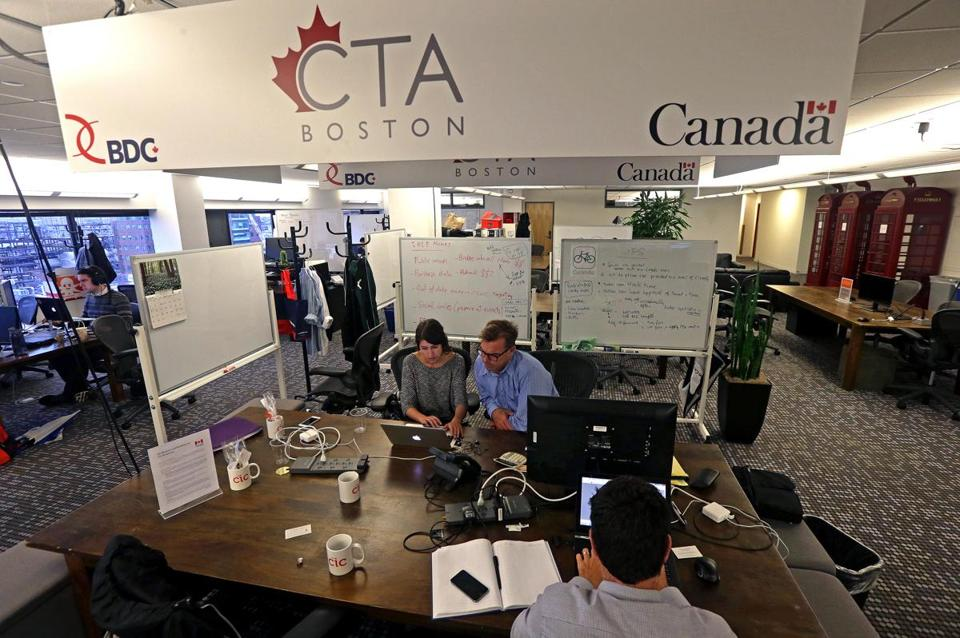 Canadian startups have a presence at the Cambridge Innovation Center.