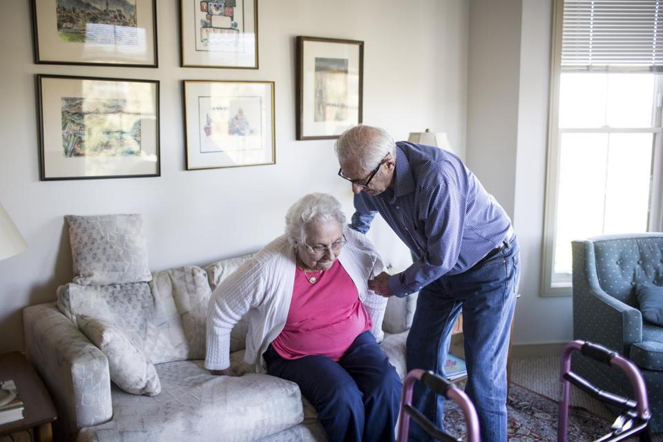 Sumner Richman took care of his wife, Joyce, in their apartment in North Oaks, Minn.
