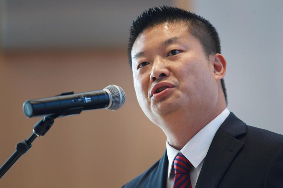 """Forty-five percent of the job postings here in Boston right now ... are in STEM-related fields,"" Superintendent Tommy Chang told students today."
