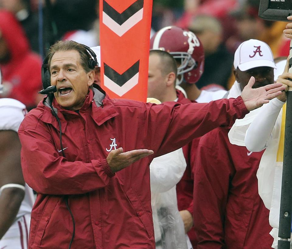 alabama s nick saban irked that media buried us last week the