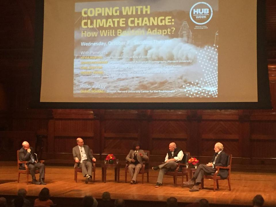 A HUBweek panel was held on Wednesday on the effect of climate change on Boston.